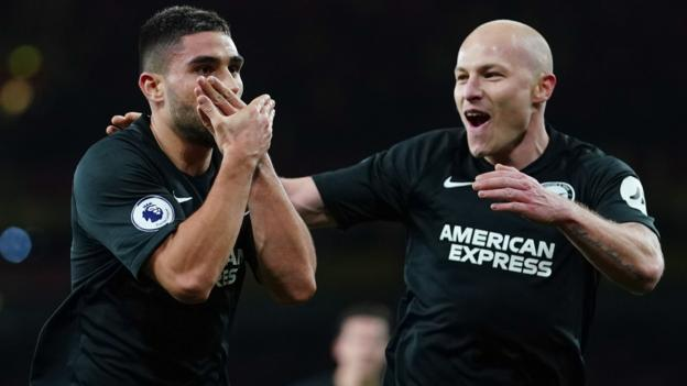 Arsenal 1-2 Brighton: Maupay seals victory for Seagulls