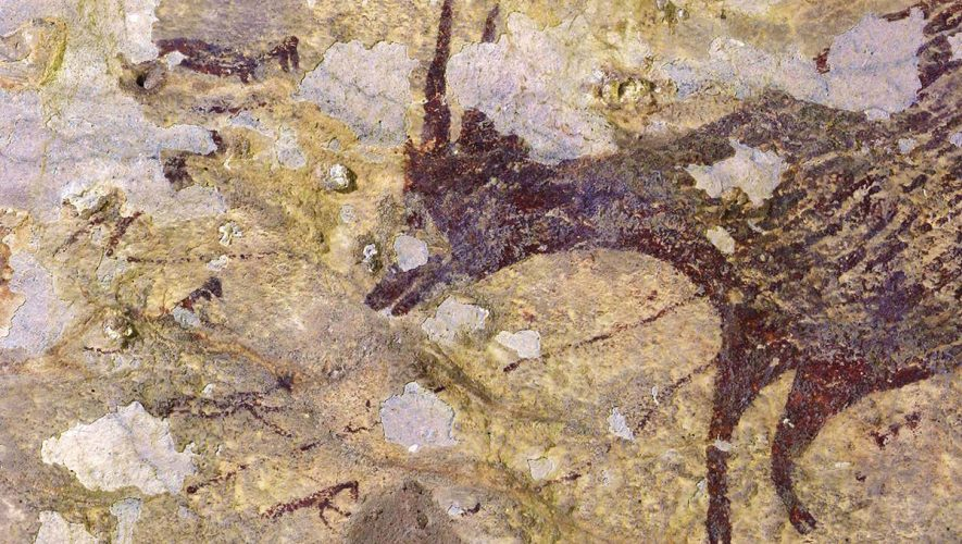 44,000-year-old hunting scene is earliest painted 'story' ever found