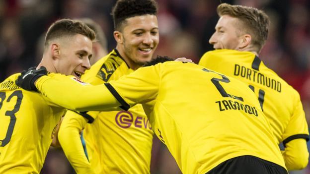 Mainz 0-4 Borussia Dortmund: Jadon Sancho scores for sixth game in row