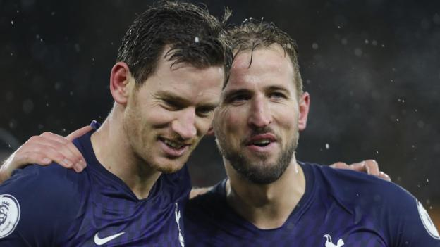 Wolves 1-2 Tottenham: Late Jan Vertonghen goal seals win for Jose Mourinho's side