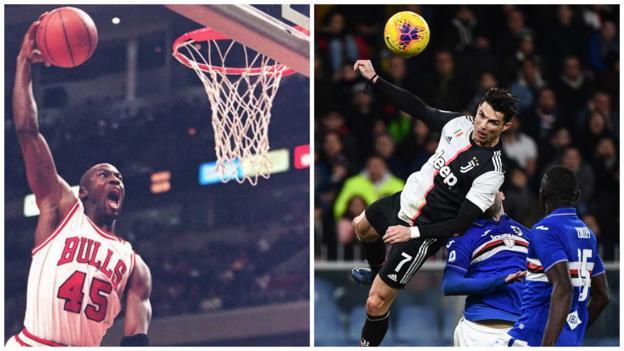 Cristiano Ronaldo: Juventus forward defies gravity with jump