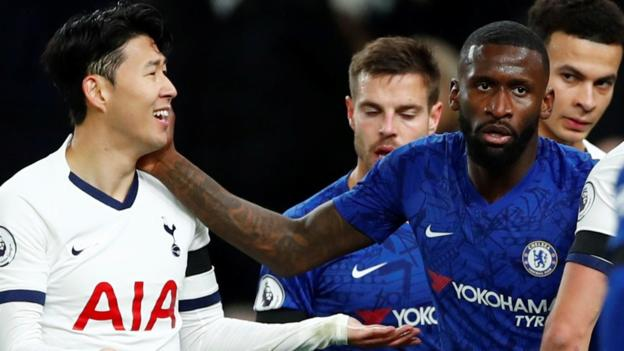 Frank Lampard: Chelsea boss defends Antonio Rudiger over Jose Mourinho criticism of Son Heung-min red card