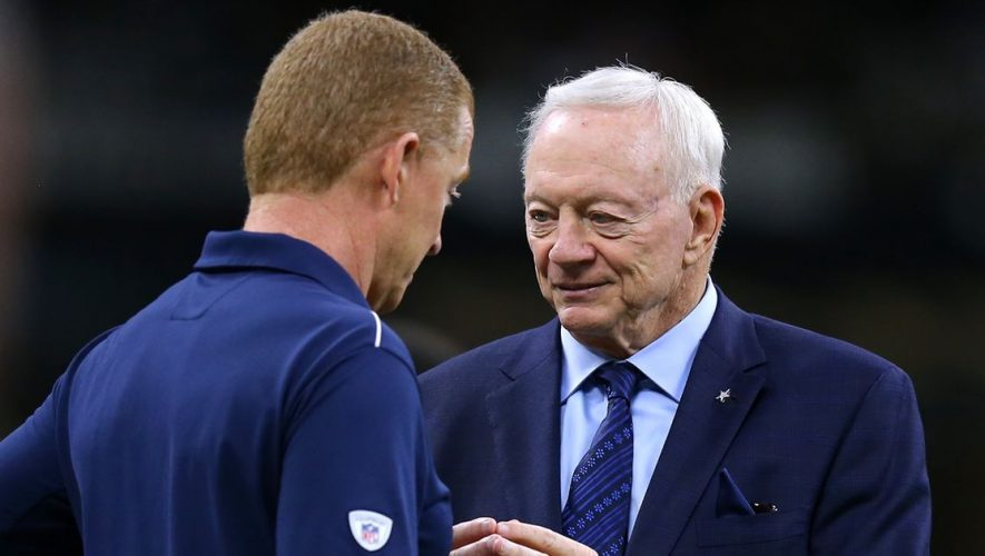 Is Jerry Jones trying to grab attention with meetings with Jason Garrett? (VIDEO)