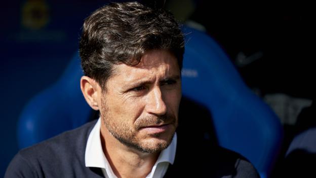 Malaga suspend coach Victor Sanchez over explicit video