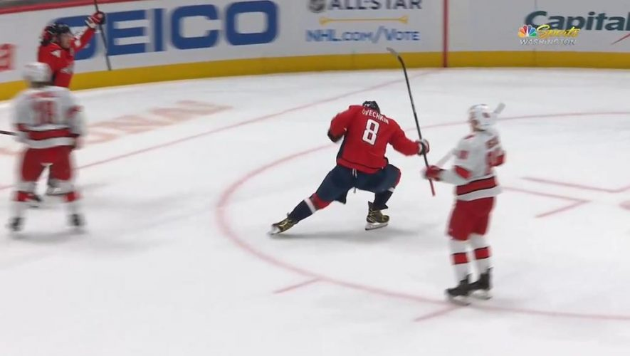 Ovechkin passes Selanne on goals list, Capitals shut out Hurricanes