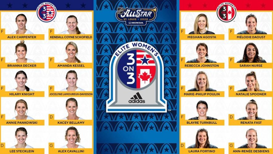 NHL All-Star Weekend adds Elite Women's 3-on-3 game