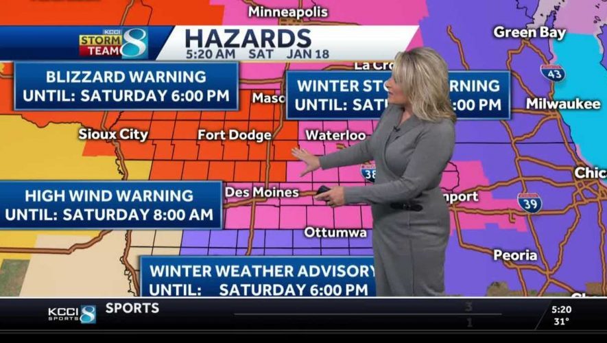 Blizzard conditions to cause travel problems – KCCI Des Moines