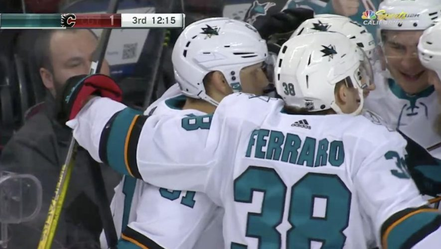Thornton scores 1,500th point in Sharks win against Flames