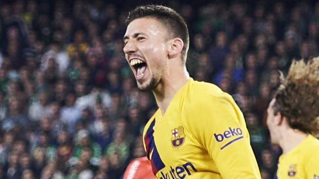 Real Betis 2-3 Barcelona: La Liga champions cut Real Madrid's lead