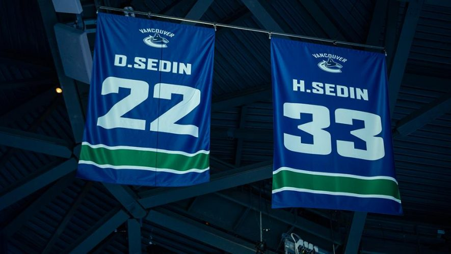 Canucks retire jersey numbers of Daniel and Henrik Sedin