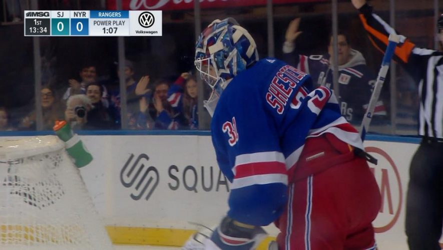 Rangers defeat Sharks for seventh win in eight games
