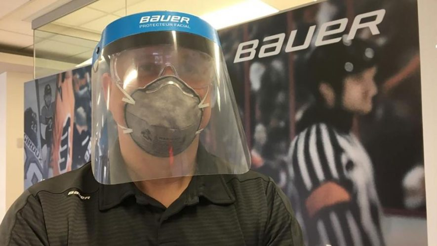 Bauer making face shields for medical workers treating coronavirus