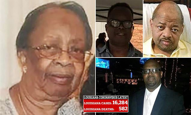 Louisiana woman, 86, and three of her sons die within ten days of one another from coronavirus – Daily Mail